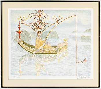 MÅRTEN ANDERSSON, litografi, signerad, numrerad 968/1400.