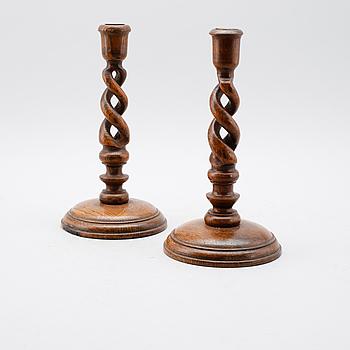 LJUSSTAKAR, 1 par, trä, 1900-talets första hälft.