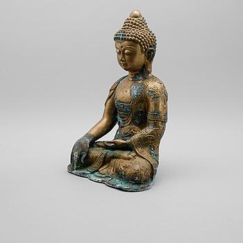 SKULPTUR, mässing, Buddha, 1900-talets första hälft.