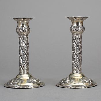 LJUSSTAKAR, 1 par, silver, E. Jänti, Helsingborg, 1966.