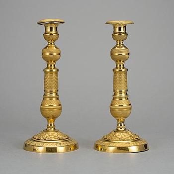 LJUSSTAKAR, ett par, Frankrike, 1800-talets första hälft, senempire.