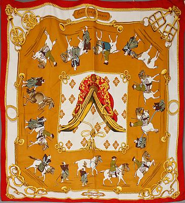 """SCARF, """"Equitation Japonaise"""", Hermès."""
