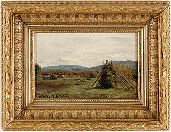 PER DANIEL HOLM, olja på duk, signerad och daterad, 1881.