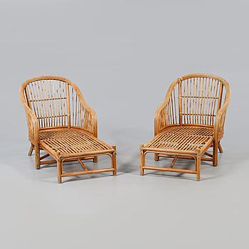 DÄCKSTOLAR/SOLSTOLAR, ett par, 1900-tal.