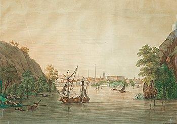 1126. Inloppet till Stockholm från Saltsjösidan.