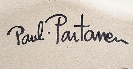 Pauli partanen, keramikfat. akvarium. sign. partanen  09