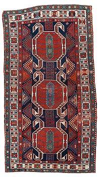 812. CARPET. Antique Caucasus, probably Lenkoran. 296 x 158 cm.
