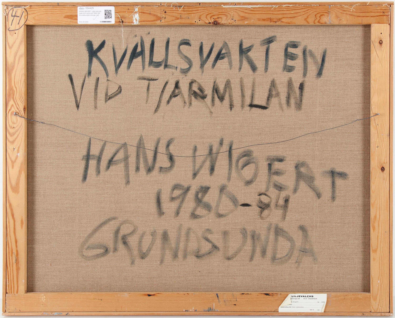 HANS WIGERT, olja p duk, sign och daterad 1980-84