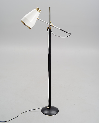 Viljo hirvonen, a floor lamp, h 801. stamped valaistustyö, h 801. early 1970s