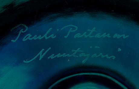 Pauli partanen, glasskulptur. sign. pauli partanen, nuutajärvi