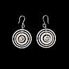 Tapio wirkkala, a pair of earrings silver moon, sterling silver n. westerback 1971