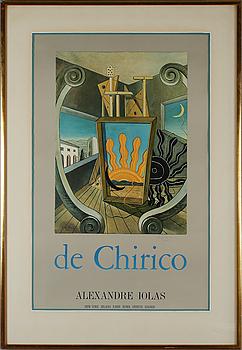GIORGIO DE CHIRICO, efter, affisch, signerad.