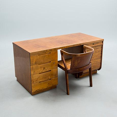Alvar aalto, desk nr 501 and chair nr 2. 1930