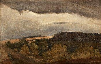 """1002. Jean Baptiste Camille Corot, """"Plateaux Boises""""."""