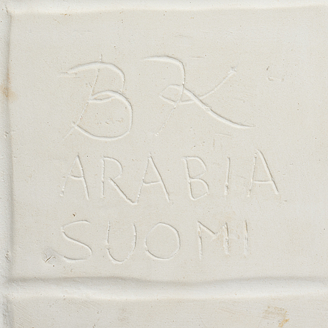 Birger kaipiainen, a dish. sign. bk arabia suomi