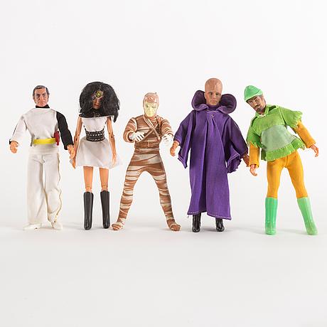 Actionfigurer, 11 stycken, mego, 1970 tal
