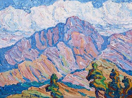 "Birger sandzén, ""in the heart of the rockies - long peak, rocky mountain national park""."