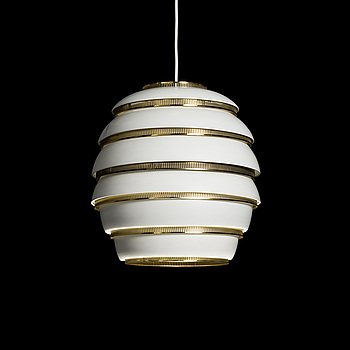 ALVAR AALTO, CEILING LAMP. Beehive A332. Manufactured by Valaistustyö. Designed in 1953.