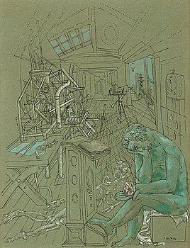 """73. PETER WEISS, """"Konstruktör av evighetsmaskin""""."""