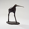 Tapio wirkkala, a set of three birds sculptures. snipes. signed tw. mid 1970s