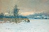 Johan (john) kindborg, winter scene from sickla sund, stockholm.