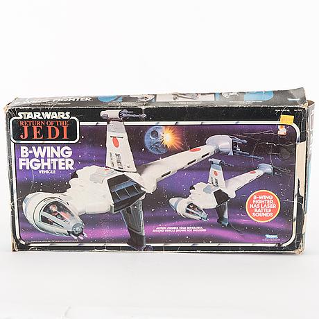Star wars, b wing fighter och y wing fighter i kartonger, 1983
