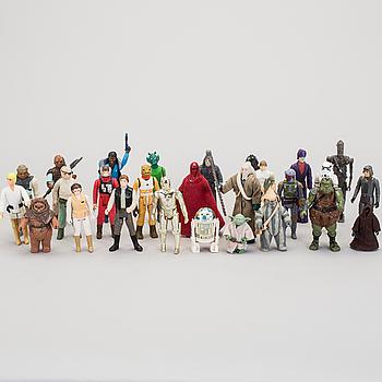 STAR WARS, 45 stycken figurer, Kenner, 1970/80-tal.