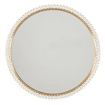 503. A Swedish Modern brass framed mirror, probably by Nordiska Kompaniet, Sweden 1940-50's.