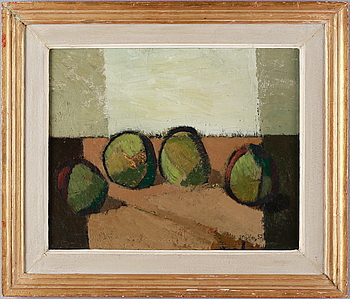 IVAR MORSING, oil on canvas, signed and dated -52.