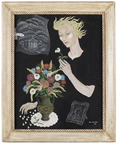 Edvarda lie kvinna med blommor