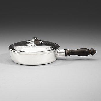 402. A Swedish 18th century parcel-gilt dish, Jonas Thomasson Ronander, Stockholm 1776.