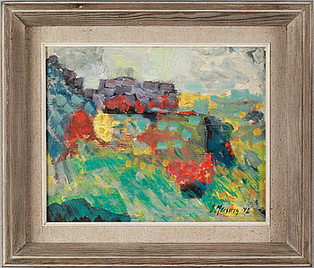 IVAR MORSING, oil on canvas, signed and dated -47.