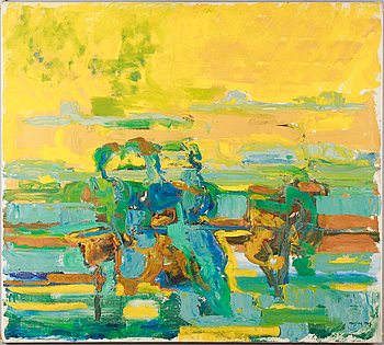 IVAR MORSING, oil on canvas, signed and dated 1964.