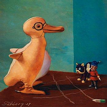 """84. GUNNAR LÖBERG, """"Stilleben med pingvin""""."""