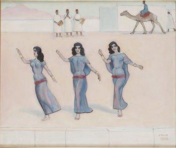 619. EINAR JOLIN Orientaliskt motiv