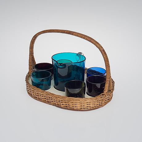 Kaj franck, juice set. nuutajärvi, designed in 1954