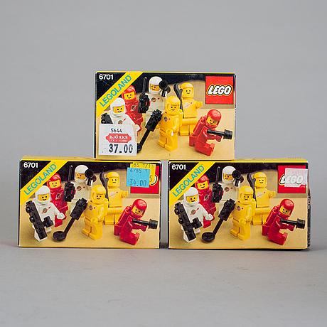 Lego, 9 stycken rymd set i förpackningar, 1983