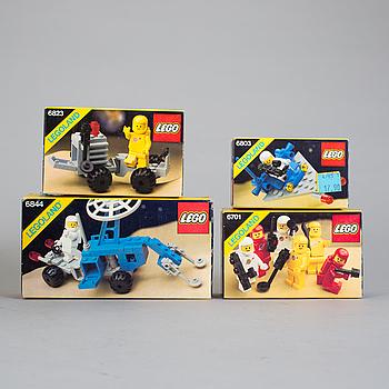 LEGO, 4 stycken rymd-set i förpackningar, 1983.