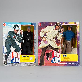 BIG JIM, Boris och 004 i förpackningar, Mattel, 1981.