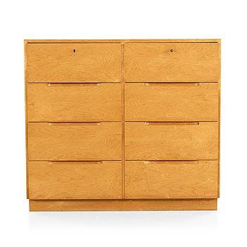 10. Alvar Aalto, a birch chest of drawers, made on license by Aalto Design Hedemora Sweden 1946-56, for Artek.