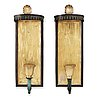 A pair of swedish grace brass wall scones, sweden 1920-30's.