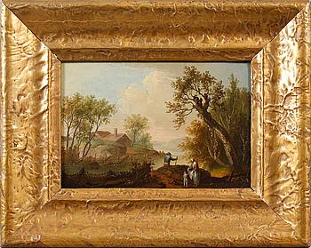 JOHAN PHILIP KORN, hans krets, olja på pannå.