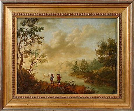 Johan philip korn, tillskriven, olja på pannå, osignerad