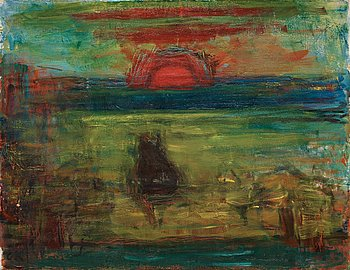 "36. CARL KYLBERG, ""I solglöd"" (Soleil couchant)."