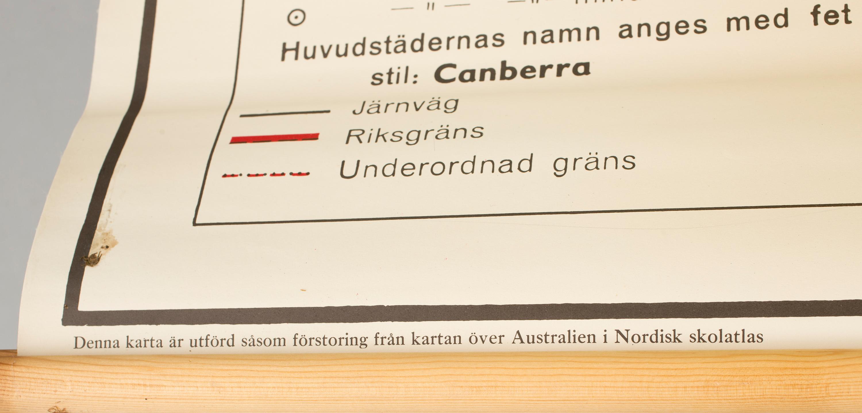 Skolkarta Australien Och Nya Zeeland 1900 Talets Mitt Bukowskis