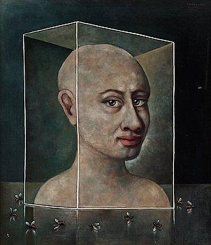 75. ZOLTAN VON BOER, Porträtt med getingar.