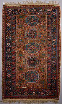 CARPET, antique Soumak, signed, 155x251 cm.