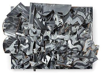 305. Elis Eriksson, ELIS ERIKSSON, Assemblage, painted wood signed EE.