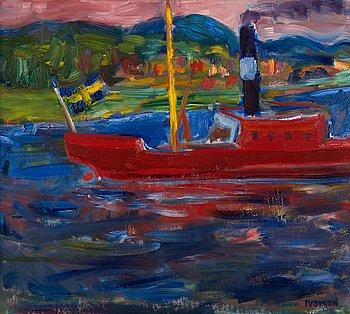 """18. IVAN IVARSON, """"Röd båt""""."""