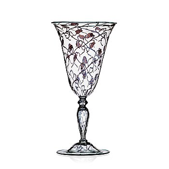 66. Orrefors, a 'graal' glass goblet, Sweden 1923.